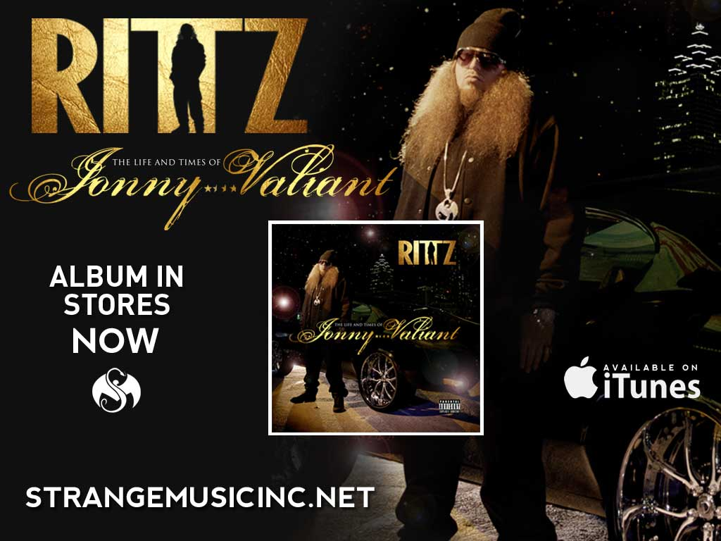 Rittz - The Life and Times of Jonny Valiant CD - Pre Sale Ship Date 4/30/2013