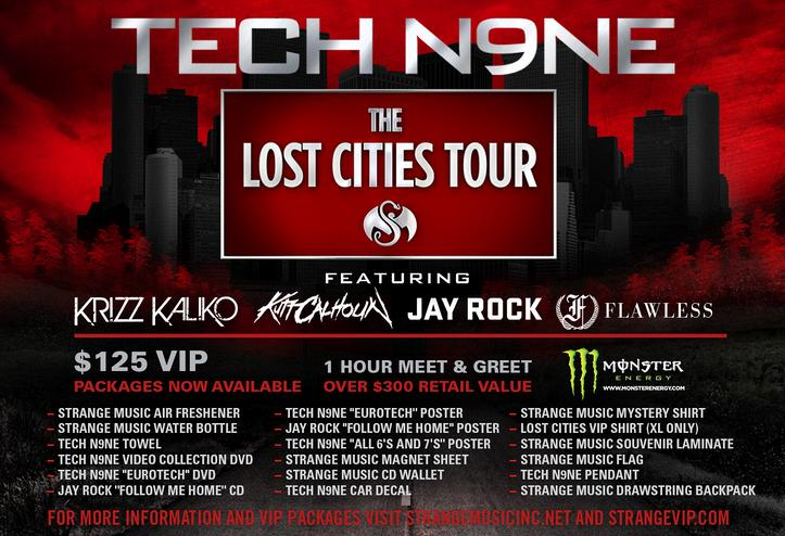 Tech N9ne: The Lost Cities Tour - Tour Graphic
