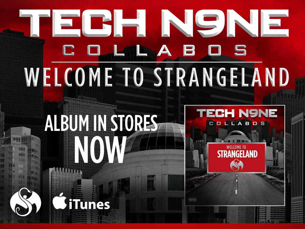 Tech N9ne Collabos- Welcome to Strangeland CD 11/8/11