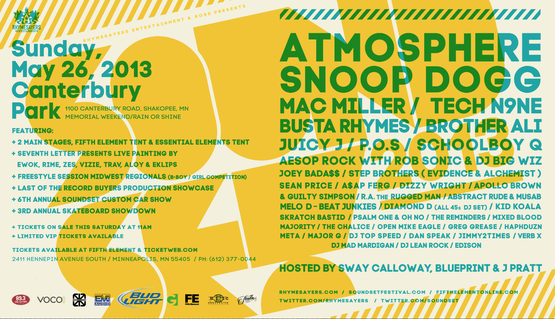 Soundset 2013 - Tour Graphic