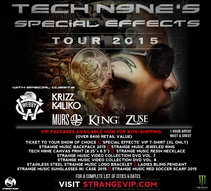 Tech N9ne's Special Effects Tour 2015