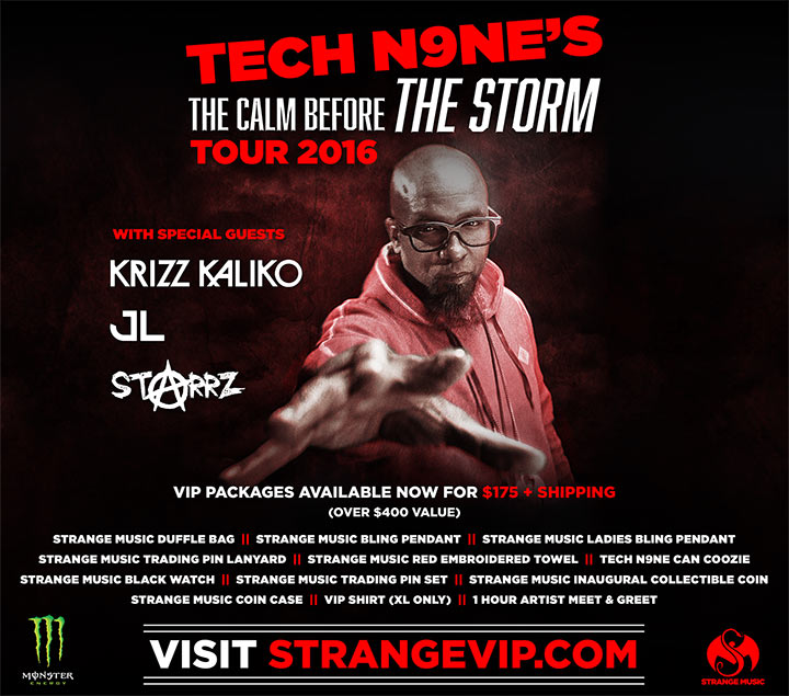Tech N9ne's The Calm Before The Storm Tour 2016
