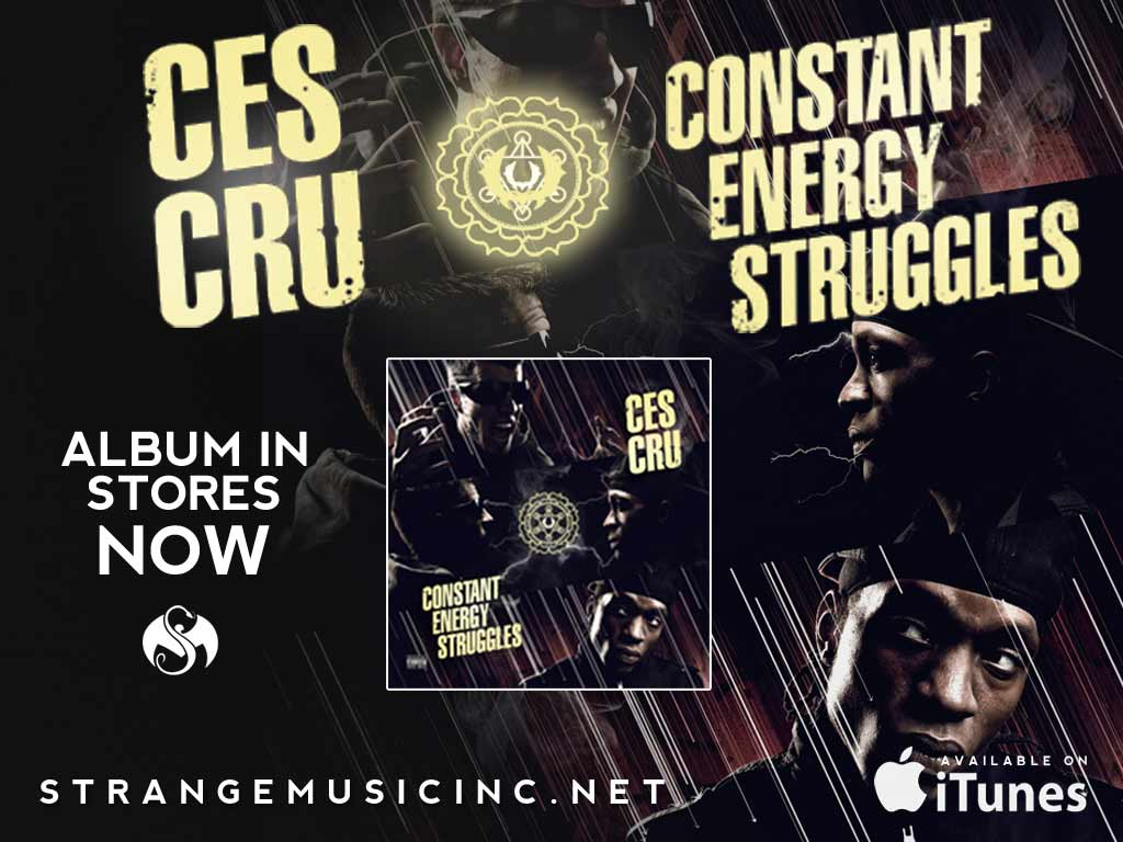 Ces Cru - Constant Energy Struggles CD 2/05/13