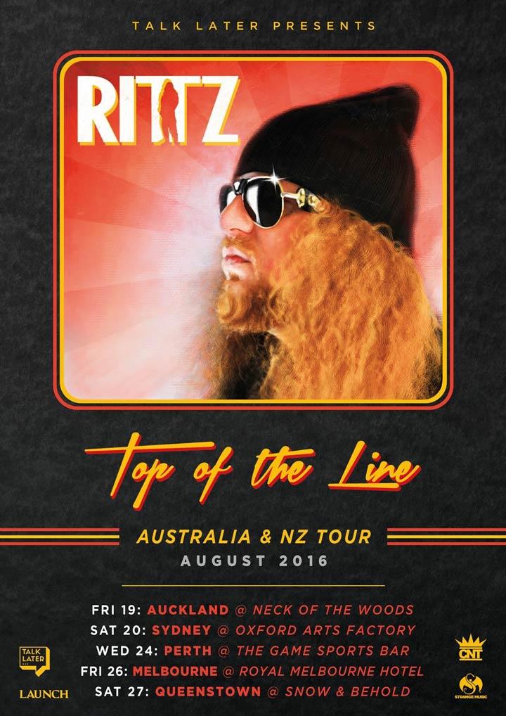 Rittz - Top of the Line - Australia & New Zealand Tour 2016