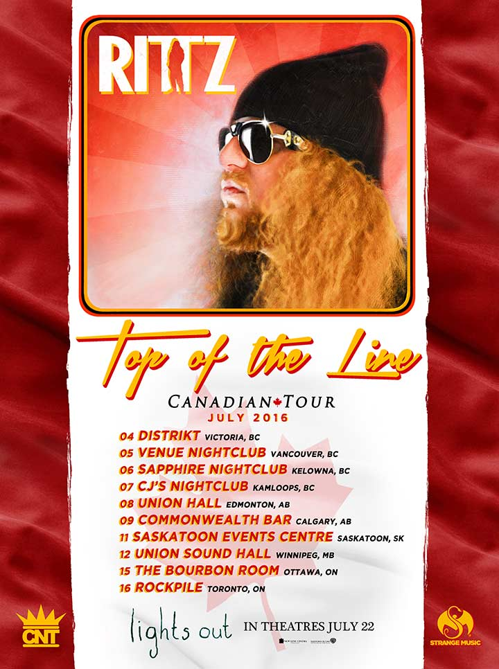 Rittz -  Top of the Line Canadian Tour