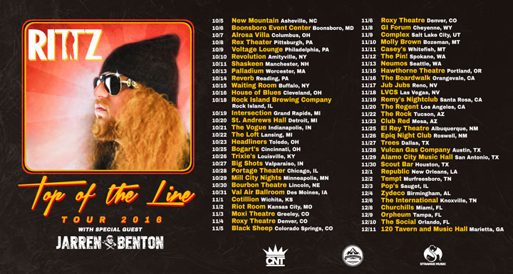 Rittz Top of the Line Tour 2016 w/Jarren Benton