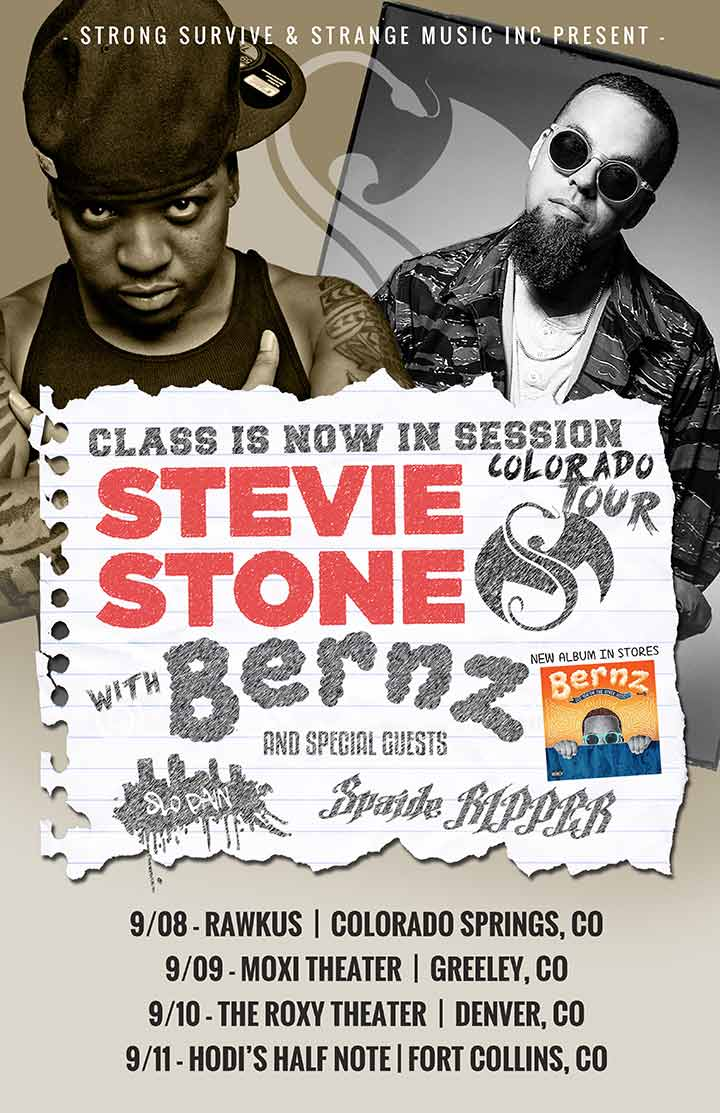 Stevie Stone w/Bernz Class is Now in Session CO Tour 2016