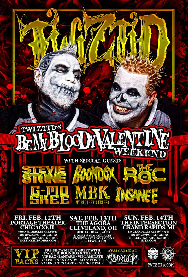 Stevie Stone - Twiztid's Be My Bloody Valentine Weekend