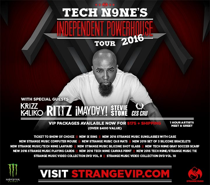 Tech N9ne's Independent Powerhouse Tour 2016